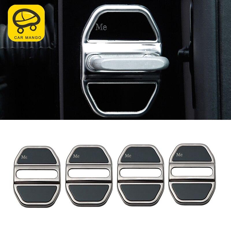 Carманго для Mercedes Benz GLE ML GL GLS авто дверной замок защитная крышка отделка наклейка рамка хромированные аксессуары