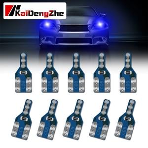 10 Pcs T10 LED Canbus W5W 6 LED Bulbs 168 194 2825 Signal Lamp Dome Reading License Plate Light Car Interior Lights 12-24V