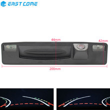 Trajectory Tracks 1080P Reverse Parking Car Rear View Camera Trunk handle For Ford Focus 2015 2016 2017 Car Camera hd 1080p trajectory tracks fisheye lens parking rear view camera for kia soul 2012 2013 2014 waterproof reverse car camera