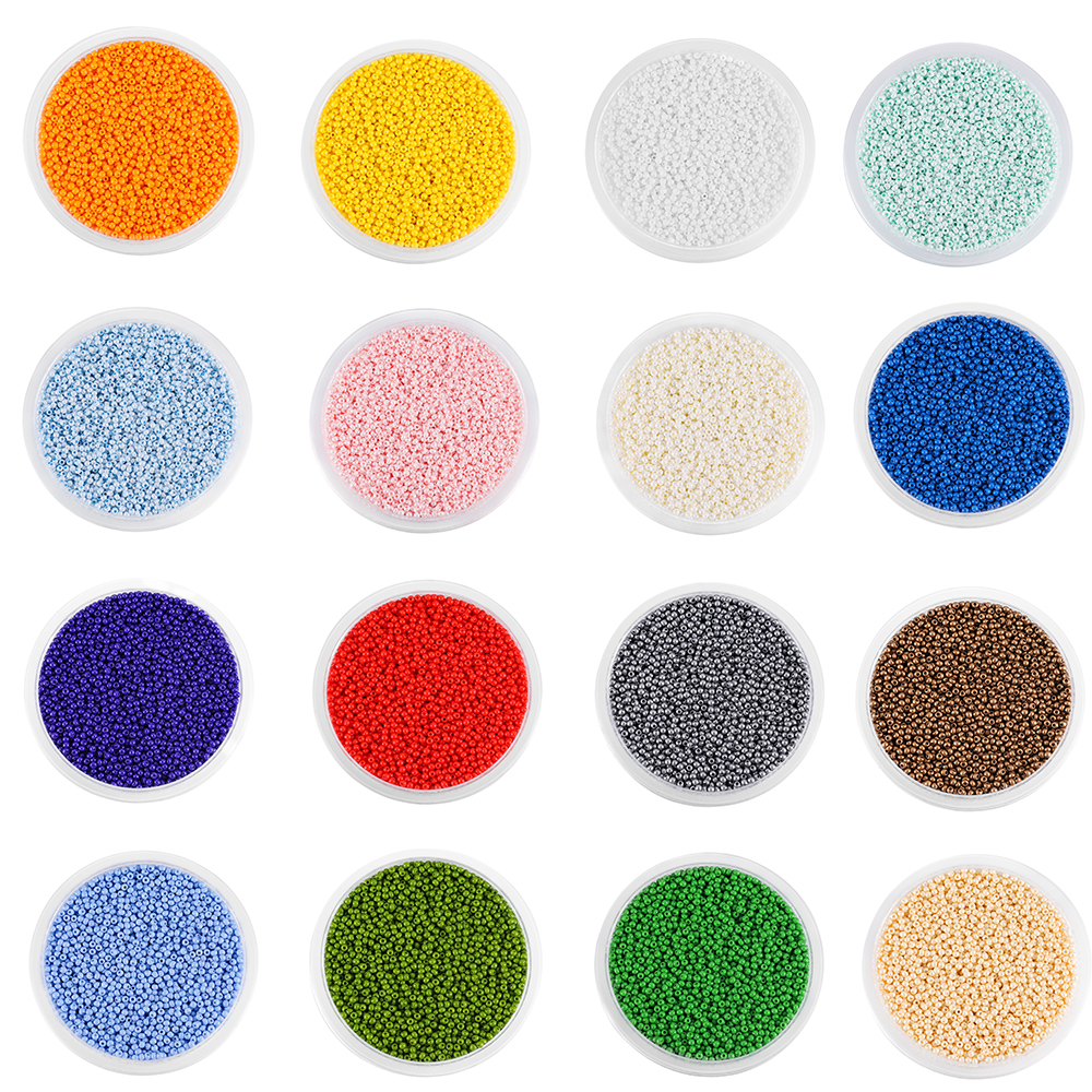 1200pcs High Quality Charm Czech Glass Seed Beads DIY Bracelet Necklace For Jewelry Making Supplies Bulk Wholesale Accessories