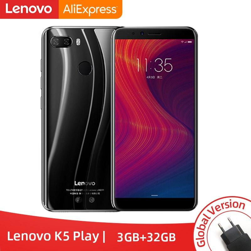 Versión Global Lenovo K5 jugar 3GB 32GB Snapdragon 430 Octa Core Smartphone 1,4G 5,7