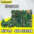 Для ASUS W519L X555LP X555LJ X555LDB X555LB X555LN X555LF X555LD X555L материнская плата для ноутбука MB REV: 3 6 I7-5500U 4 Гб RAM GTX920M/2G