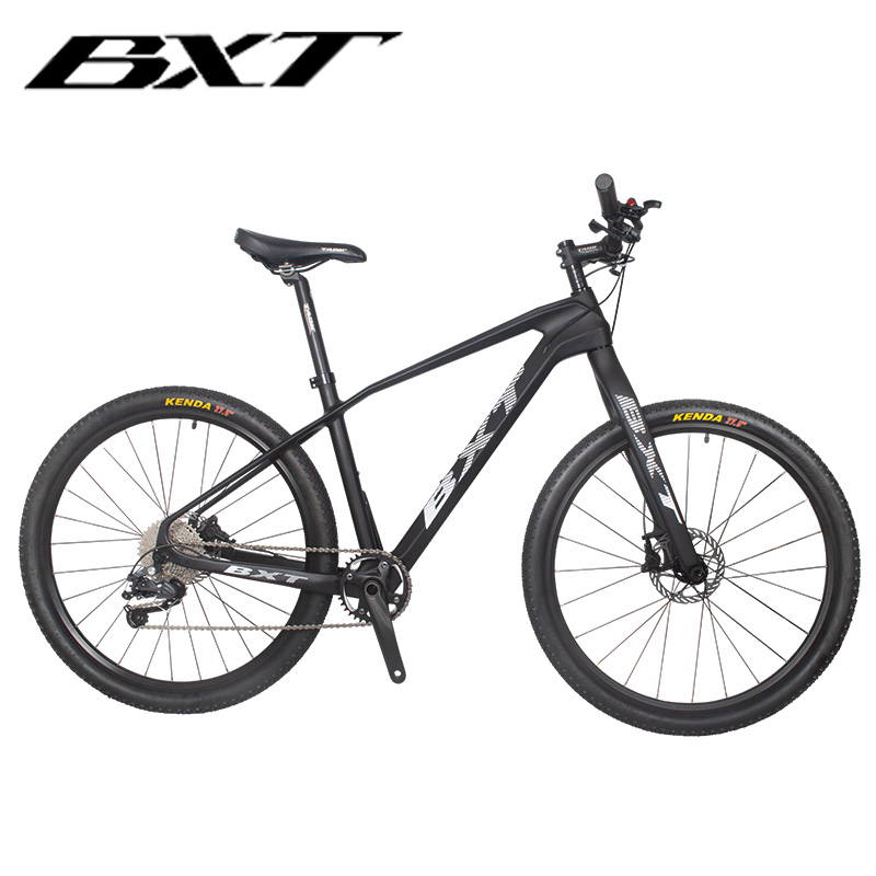 BXT 27,5 дюймов углеродное волокно горный велосипед 1*11 скорость двойной дисковый тормоз 27,5 MTB Мужской Велосипед 27,5 er колеса S/M/L рама полный вело...
