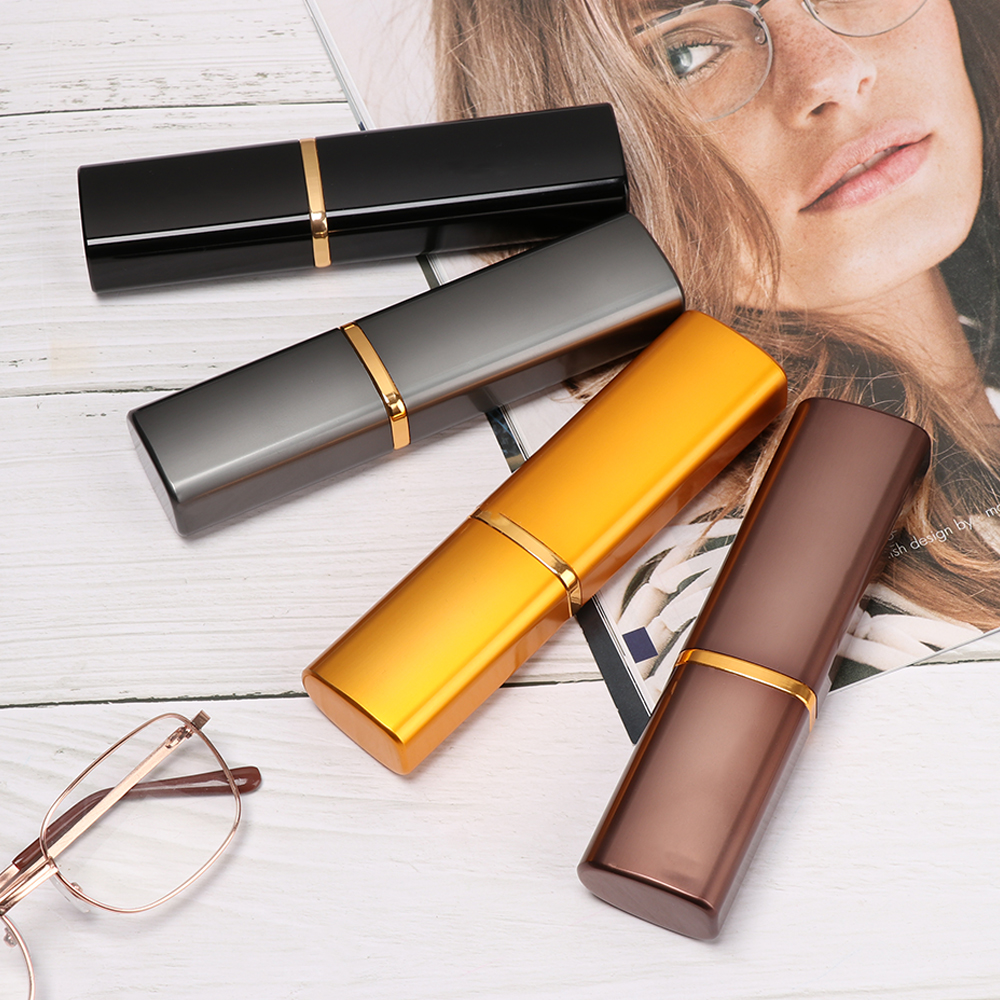 Glasses Case Hard Cover Eyeware Alumina Pencil Vase Glasses Box Women Men Mini Portable Reading Glasses Sunglasses Spectacle Box