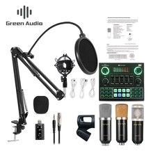BM800 Kondensator Mikrofon Bluetooth Mixer Audio Soundkarte Live Broadcast Aufnahme K Song Spiel Computer PC Handy
