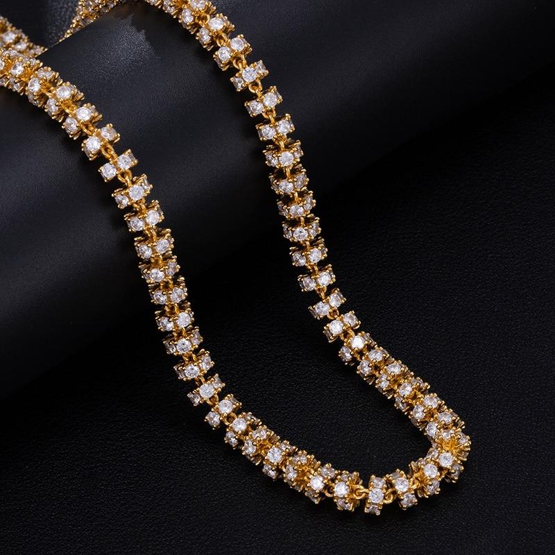6MM Bling AAA CZ zircon cubique glacé chaîne à maillons ronds collier pour hommes Hip Hop rappeur bijoux 18 ''-24'' - 3