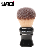 Yaqi 24mm Black Handle Yellow Synthetic Hair Knot Wet Shaving Brush