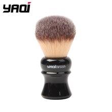 Yaqi brosse de rasage, poils synthétiques jaunes, avec poignée noire, 24mm, mèche humide