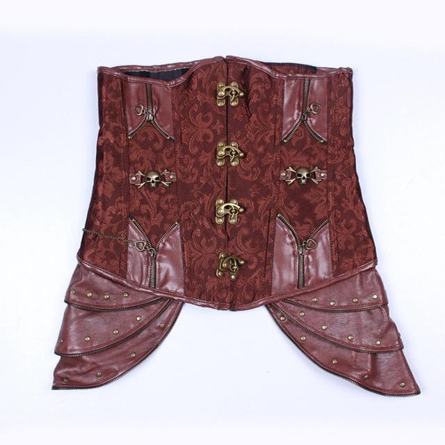 Фото стимпанк готический корсет для тела женский костюм на хэллоуин цена