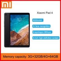 Original Xiaomi Mi Pad 4 32GB/64GB Tablets 4 Snapdragon 660 AIE CPU Tablet 8.0\'\' 16:10 Screen 13MP Bluetooth 5.0 6000mAh Battery