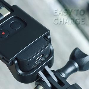 Image 3 - Soporte de montaje con tornillo 1/4 para DJI Osmo Pocket interfaz de cámara y soporte de Cámara de Acción para trípode Selfie Stick bicicleta