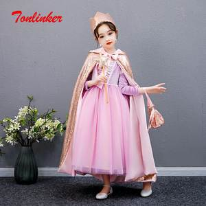 Fancy Dress Rapunzel-Costume Clothing Party-Outfit Halloween Girls Kids Princess