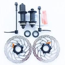 Ступица дискового тормоза SHIMAN0 RM35 RT30 160 мм, ротор 8 9 10 скоростей, центральный замок для горного велосипеда, 32/36 отверстий, быстросъемная станд...