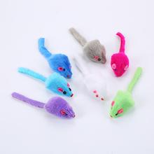 1pc zabawka dla kota mysz pluszowy kot Palying zabawka dla kota kotek kot Scratch Bite Self zabawa interaktywna mała mysz zabawka dla kota zabawka kot dostaw tanie tanio Myszy i zwierząt zabawki dropshipping wholesale plush mouse toy random 11*3cm