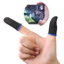 Luva sensível do dedo do jogo das luvas do tela táctil móvel anti suando acessórios do gamer do não-deslizamento para o jogo dos telefones celulares de pubg