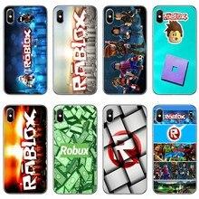 TPU Soft Case Para Samsung Galaxy A70 A60 A50 A40 A30 A10 A9 A8 A6 Plus ROBLOXES A7 A5 A3 2018 2017 2016 jogo Caso de Telefone
