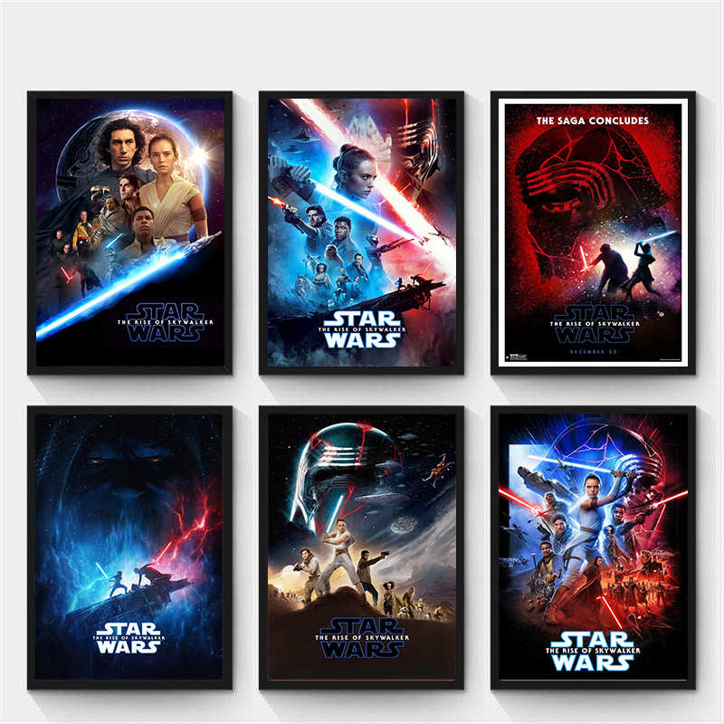 Poster Wall Art Star Wars The Rise Of Skywalker Ix 2019 Comic Movie Painting Picture Prints Living Home Room Decor Aliexpress