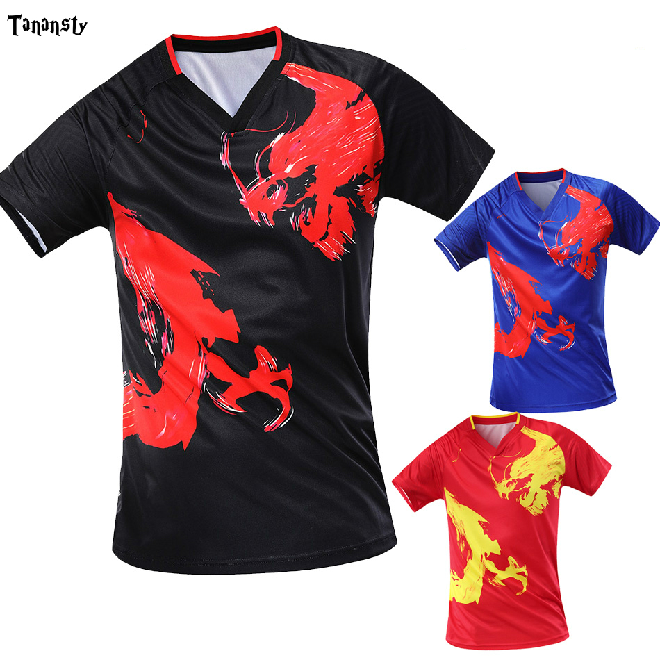 Top Dragon Table Tennis Shirts Men /Women CHINA Sports T-shirt Badminton0 Clothes Ping Pong Tshirts Ladies Chinese Sportswear