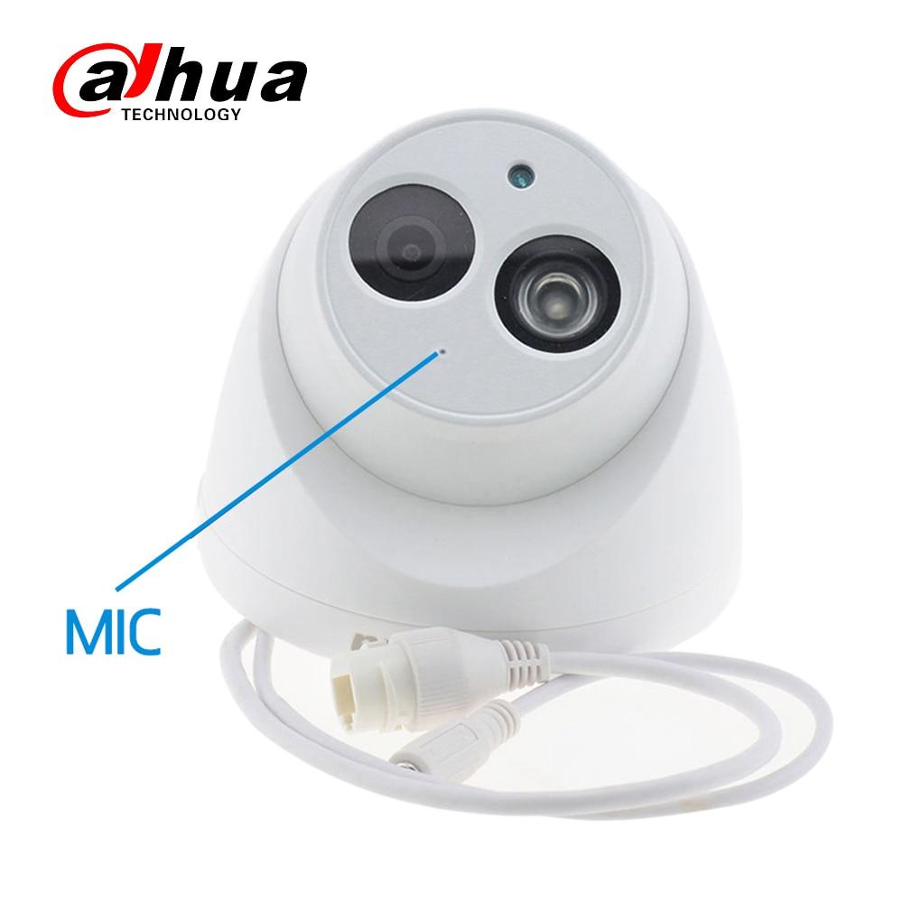 Dahua IPC-HDW4433C-A original 4MP POE Network IR Mini Dome CCTV IP Camera Starnight Built-in MiC replace IPC-HDW4431C-A