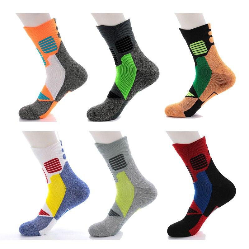 Professional Men Winter Running Socks Sweat Thick Towel Bottom Hiking Basketball Outdoor Gym Fitness Sport Compression Socks