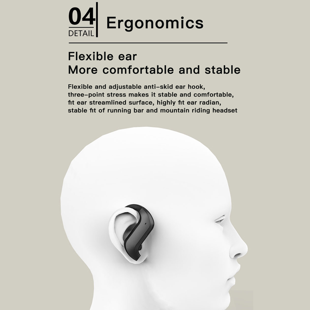 MD03 TWS Wireless Bluetooth Headphones Stable Ear-Hook Touch Control Digital Display For Oppo Huawei Iphone Xiaomi Sport Earbuds