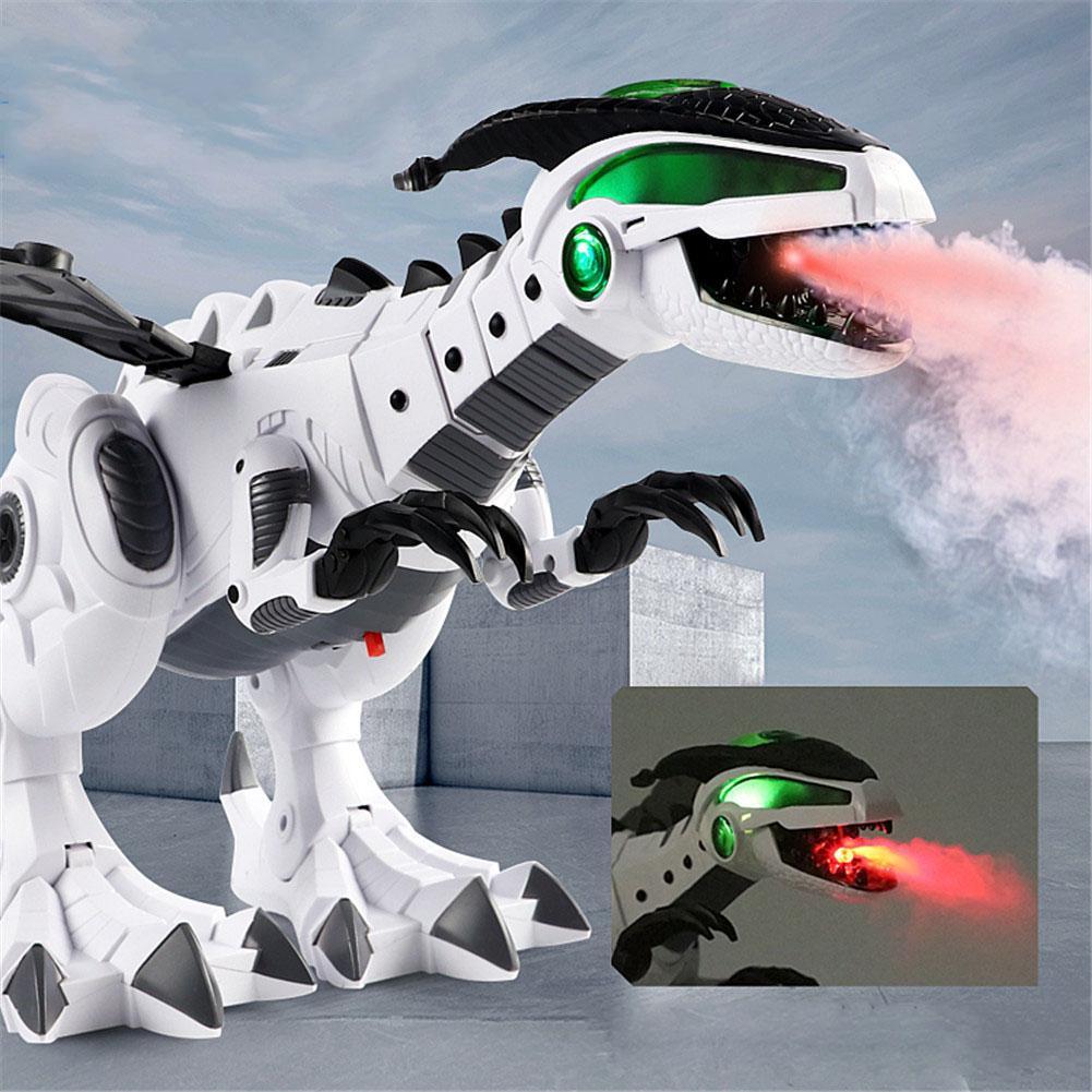 Electric Spitfire LED Light Sound Simulation Dinosaur Model Boys Kids Toy Gift Shocking Interactive Spray Beautiful Lights Gifts