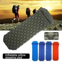 Outdoor Camping Inflatable Cushion Ultralight Moisture-proof Portable Sleeping Bag Mattress Mat Pad With Inflatable Sleeping Mat