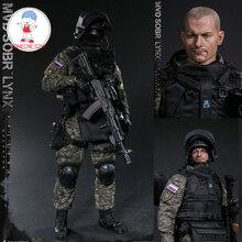 DAMTOYS barajı 78058 1/6 ölçekli rus SPETSNAZ MVD SOBR LYNX erkek asker aksiyon figürleri koleksiyonu için