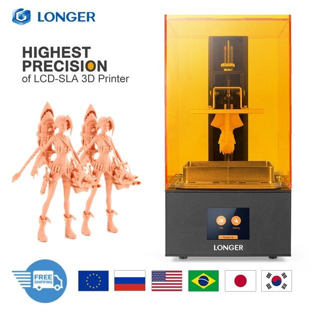 長いオレンジ 30 sla液晶 3Dプリンタ 2 18kマトリックスuv 405nm樹脂高速スライスプリンタジュエリー歯科専門impresora 3d drucker