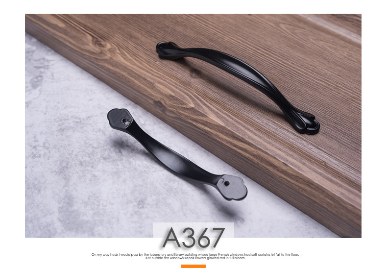 Hdaf01f65ccb54680babe5f75c4c3d810d - American Modern Style Black Cabinet Handles Solid Aluminum Alloy Kitchen Cupboard Pulls Drawer Knobs Furniture Handle Hardware