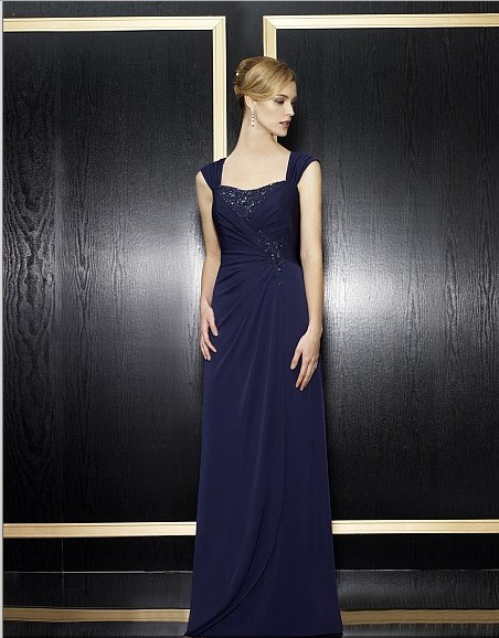 2018 Maxi New Arrival Vestidos De Festa Beaded Formales Gown Royal Blue Long Elegant Party Evening Mother Of The Bride Dresses
