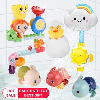Gorąca sprzedaż zabawki do kąpieli dla niemowląt przyssawka ścienna marmur Race Run Track wanna do łazienki dla dzieci zagraj w gry wodne zestaw zabawek dla dzieci tanie i dobre opinie Apaffa Z tworzywa sztucznego Baby Bath Toys Certyfikat Kaczka Do Not Eat Piasek i dabbling tabeli w połączeniu dabbling modelu
