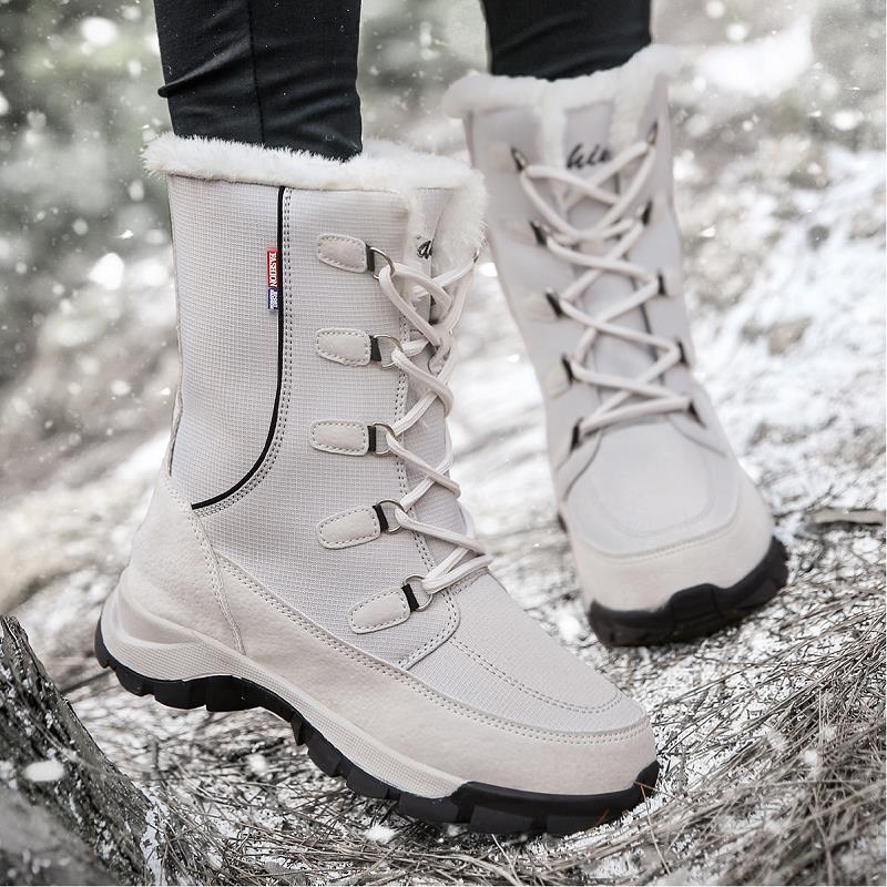 New Snow Boots Women Winter Shoes Warm Fur Platform Shoes Woman Ankle Boots WaterProof Outdoor Women Shoes Botas De Nieve Mujer