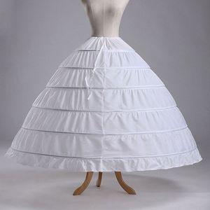 Image 5 - 6 חישוקים אין חוט גדול חצאית הכלה כלה חתונה שמלת תמיכה תחתונית נשים תלבושות חצאיות רירית