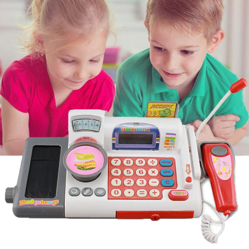 Kids Cash Register Toy Children Educational Cash Register Toy Set Role play Cashier Cash Register Set