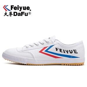 Image 1 - DafuFeiyue 331 Shaolin Kungfu toile chaussures Original hommes femmes chaussures vulcanisé baskets décontracté respirant tendance chaussures antidérapantes