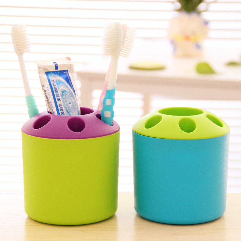 Creative household toothbrush holder multi-purpose plastic toothbrush container wholesale commodities department store image