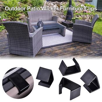 Pack Of 20 Patio Wicker Outdoor Furniture Sectional Sofa Alignment Chair Fasteners Clips Clamps Connectors 6X3.5CM