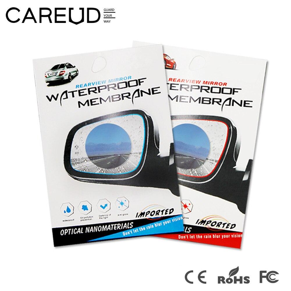 2X Rainproof Anti-Fog Rear View Mirror Sticker Protective Film Rain Mist Shield