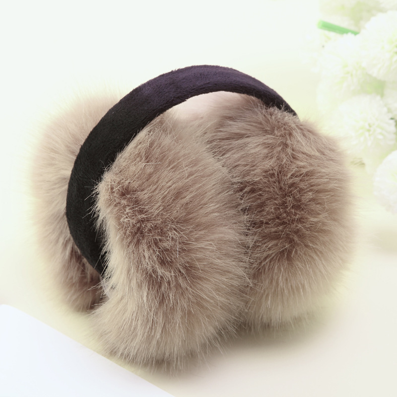 VIIANLES Unisex Winter Earmuff Wool Adult Women Fashion The Imitation Rabbit Warm Earmuffs Solid Color Available For Women Girls
