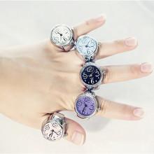 2020 Hot koreański styl kreatywny stal fajne elastyczne pierścień analogowy z kwarcowy zegarek kobiet pierścień studentów mody klasyczne odwróć palec tanie tanio Vinkkatory Ze stopu cynku Kobiety Metal TRENDY Obrączki ślubne ROUND Zgodna ze wszystkimi Wiadomości z przypomnieniami