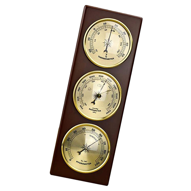 Image 5 - Wall Barometer Thermometer Hygrometer Weather Station Hanging 