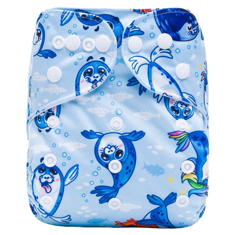 Eco Friendly Diapers All In One And Reusable Organic Baby Cool Cloth Diapers Nappy Biodegradable S15
