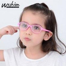 Стаканы детские дети анти синий свет Блокировка детские очки девушка оптическая рамка прозрачные линзы UV400 антибликовый фильтр 0-4