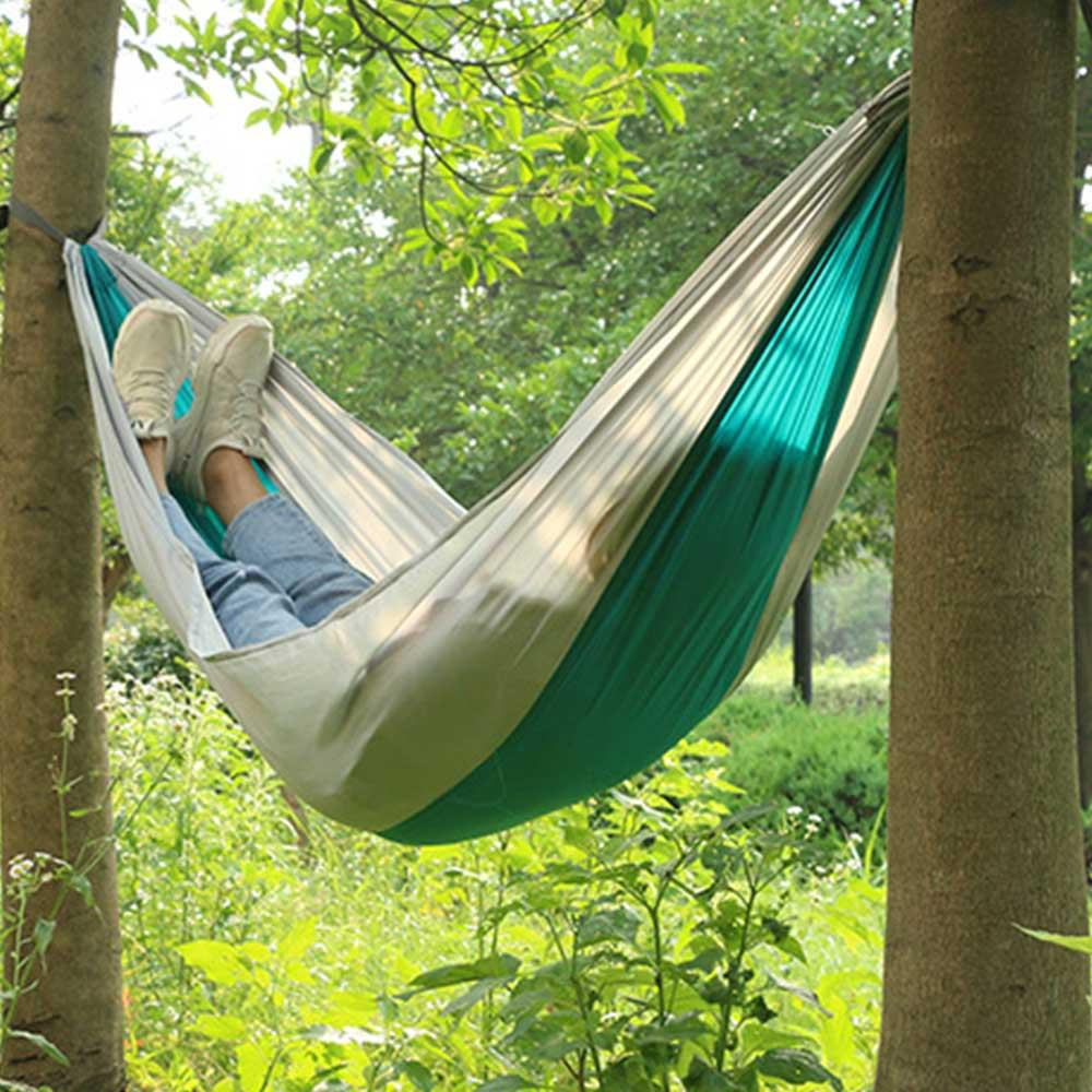 Hiking Camping 240cm Hammock Portable Nylon Safety Parachute Hamac Hanging Chair Swing Outdoor Double Person Leisure Hamak
