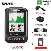 Igpsport igs618 computador de bicicleta sem fio ciclismo bicicleta gps velocímetro velocidade sensor freqüência cardíaca computadores acessórios