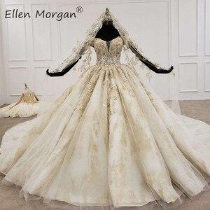 Image 1 - ปิดไหล่Gownsชุดแต่งงาน 2020 ซาอุดีอาระเบียความยาวเม็กซิกันVestido Novia Elegantชุดเจ้าสาวพร้อมVeils