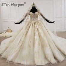 Robes de mariée à épaules dénudées longueur au sol, robes de mariée élégantes, arabie saoudite, 2020