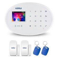 Kerui sistema de alarma de seguridad inteligente W20, inalámbrico, WIFI, GSM, sistema de alarma antirrobo para el hogar, Compatible con Sensor de puerta