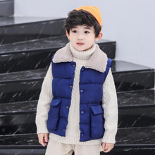New Fashion Winter Kids Waistcoats Hooded Thicken Warm Baby Boys Padded Jackets Korean Style Girls Vests Unisex Children Clothes